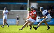 6 October 2019; Sean Moran of Cuala in action against Rian McBride of St Vincents during the Dublin County Senior Club Hurling Championship semi-final match between St Vincents and Cuala at Parnell Park in Dublin. Photo by David Fitzgerald/Sportsfile