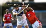 6 October 2019; Mark Schutte of Cuala in action against Rory Pocock of St Vincents during the Dublin County Senior Club Hurling Championship semi-final match between St Vincents and Cuala at Parnell Park in Dublin. Photo by David Fitzgerald/Sportsfile
