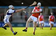 6 October 2019; Colm Cronin of Cuala in action against Mark Sweeney of St Vincents during the Dublin County Senior Club Hurling Championship semi-final match between St Vincents and Cuala at Parnell Park in Dublin. Photo by David Fitzgerald/Sportsfile
