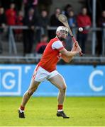 6 October 2019; Con O'Callaghan of Cuala scores a point during the Dublin County Senior Club Hurling Championship semi-final match between St Vincents and Cuala at Parnell Park in Dublin. Photo by David Fitzgerald/Sportsfile