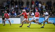 6 October 2019; Con O'Callaghan of Cuala in action against Rory Pocock of St Vincents during the Dublin County Senior Club Hurling Championship semi-final match between St Vincents and Cuala at Parnell Park in Dublin. Photo by David Fitzgerald/Sportsfile