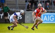 6 October 2019; Con O'Callaghan of Cuala in action against Mark Sweeney of St Vincents during the Dublin County Senior Club Hurling Championship semi-final match between St Vincents and Cuala at Parnell Park in Dublin. Photo by David Fitzgerald/Sportsfile