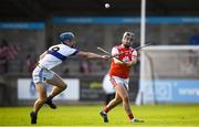 6 October 2019; Colum Sheanon of Cuala in action against Rian McBride of St Vincents during the Dublin County Senior Club Hurling Championship semi-final match between St Vincents and Cuala at Parnell Park in Dublin. Photo by David Fitzgerald/Sportsfile