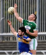 6 October 2019; Kevin Cassidy of Gaoth Dobhair in action against Ryan McHugh of Kilcar during the Donegal County Senior Club Football Championship semi-final match between Kilcar and Gaoth Dobhair at MacCumhaill Park in Ballybofey, Donegal. Photo by Oliver McVeigh/Sportsfile