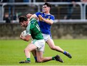 6 October 2019; Odhrán Mac Niallais of Gaoth Dobhair in action against Brian O'Donnell of Kilcar during the Donegal County Senior Club Football Championship semi-final match between Kilcar and Gaoth Dobhair at MacCumhaill Park in Ballybofey, Donegal. Photo by Oliver McVeigh/Sportsfile