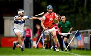 6 October 2019; Sean Moran of Cuala in action against Ruairi Trainor of St Vincents during the Dublin County Senior Club Hurling Championship semi-final match between St Vincents and Cuala at Parnell Park in Dublin. Photo by David Fitzgerald/Sportsfile