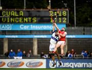 6 October 2019; John Walsh of St Vincents in action against Simon Timlin of Cuala during the Dublin County Senior Club Hurling Championship semi-final match between St Vincents and Cuala at Parnell Park in Dublin. Photo by David Fitzgerald/Sportsfile