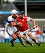 6 October 2019; Colum Sheanon of Cuala in action against Mark O'Farrell of St Vincents during the Dublin County Senior Club Hurling Championship semi-final match between St Vincents and Cuala at Parnell Park in Dublin. Photo by David Fitzgerald/Sportsfile
