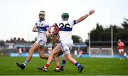 6 October 2019; Con O'Callaghan of Cuala in action against Neal Billings, right, and Michael O'Driscoll of St Vincents during the Dublin County Senior Club Hurling Championship semi-final match between St Vincents and Cuala at Parnell Park in Dublin. Photo by David Fitzgerald/Sportsfile