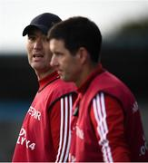 6 October 2019; Cuala manager Willy Maher, left, and selector Brian Huck during the Dublin County Senior Club Hurling Championship semi-final match between St Vincents and Cuala at Parnell Park in Dublin. Photo by David Fitzgerald/Sportsfile