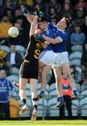 6 October 2019; Ethan O'Donnell and Ciaran Thompson of Naomh Conaill in action against Sean McGettigan of St Eunan's during the Donegal County Senior Club Football Championship semi-final match between St Eunan's and Naomh Conaill at MacCumhaill Park in Ballybofey, Donegal. Photo by Oliver McVeigh/Sportsfile
