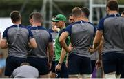 7 October 2019; Head coach Joe Schmidt speaks to his players during Ireland Rugby squad training session at Shirouzuoike Park in Fukuoka, Japan. Photo by Brendan Moran/Sportsfile