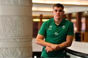 7 October 2019; Garry Ringrose poses for a portrait after an Ireland Rugby press conference at the Grand Hyatt in Fukuoka, Japan. Photo by Brendan Moran/Sportsfile