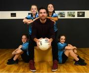 7 October 2019; Warming up for Energy Action's Fuel Poverty Conference launch is Michael Darragh MacAuley, North Inner City hero and seven times GAA Football All-Ireland Senior Championship winner, with twins Katie and Ella, age 10, and Abbie and Alex, age 13, at the launch of the Energy Action Fuel Poverty Conference at The Lab, Foley Street, Dublin 1 co-sponsored by Electric Ireland. The Fuel Poverty Conference focuses on fuel poverty in Ireland, creating dialogue between policy makers, utilities agencies and community groups supporting vulnerable customers. It runs on October 21st, 2019 at 9:30am in the Croke Park Conference Centre. Photo by Ramsey Cardy/Sportsfile
