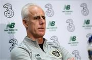 7 October 2019; Republic of Ireland manager Mick McCarthy during a press conference at the FAI National Training Centre in Abbotstown, Dublin. Photo by Stephen McCarthy/Sportsfile