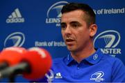 7 October 2019; Leinster 'A' head coach Noel McNamara during a Leinster Rugby press conference at Leinster Rugby Headquarters in UCD, Dublin. Photo by Seb Daly/Sportsfile