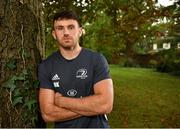 7 October 2019; Hugo Keenan poses for a portrait following a press conference at Leinster Rugby Headquarters in UCD, Dublin. Photo by Seb Daly/Sportsfile