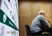 7 October 2019; Republic of Ireland's manager Mick McCarthy during a press conference at the FAI National Training Centre in Abbotstown, Dublin. Photo by Stephen McCarthy/Sportsfile