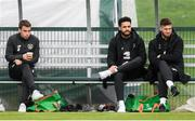 7 October 2019; Players, from left, Seamus Coleman, Derrick Williams and Matt Doherty during a Republic of Ireland training session at the FAI National Training Centre in Abbotstown, Dublin. Photo by Stephen McCarthy/Sportsfile