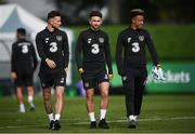 7 October 2019; Players, from left, Alan Browne, Sean Maguire and Callum Robinson during a Republic of Ireland training session at the FAI National Training Centre in Abbotstown, Dublin. Photo by Stephen McCarthy/Sportsfile