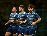 7 October 2019; Michael Milne, right, during Leinster Rugby squad training at Rosemount in UCD, Dublin. Photo by Seb Daly/Sportsfile