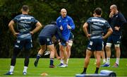 7 October 2019; Contact skills coach Hugh Hogan during Leinster Rugby squad training at Rosemount in UCD, Dublin. Photo by Seb Daly/Sportsfile