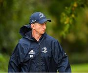 7 October 2019; Head coach Leo Cullen arrives prior to Leinster Rugby squad training at Rosemount in UCD, Dublin. Photo by Seb Daly/Sportsfile