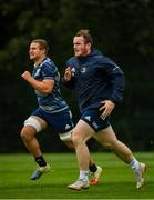 7 October 2019; Peter Dooley, right, and Scott Penny, left, during Leinster Rugby squad training at Rosemount in UCD, Dublin. Photo by Seb Daly/Sportsfile