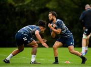 7 October 2019; Jamison Gibson-Park, right, and Joe Tomane during Leinster Rugby squad training at Rosemount in UCD, Dublin. Photo by Seb Daly/Sportsfile