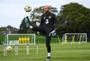 7 October 2019; Darren Randolph during a Republic of Ireland training session at the FAI National Training Centre in Abbotstown, Dublin. Photo by Stephen McCarthy/Sportsfile