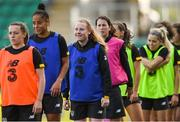 7 October 2019; Amber Barrett, centre, during a Republic of Ireland Women's team training session at Tallaght Stadium in Tallaght, Dublin.  Photo by Piaras Ó Mídheach/Sportsfile