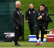 7 October 2019; Republic of Ireland manager Mick McCarthy and Aaron Connolly during a Republic of Ireland training session at the FAI National Training Centre in Abbotstown, Dublin. Photo by Stephen McCarthy/Sportsfile