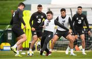 7 October 2019; Republic of Ireland players, from left, Kevin Long, Enda Stevens, Aaron Connolly, John Egan and Callum O'Dowda during a training session at the FAI National Training Centre in Abbotstown, Dublin. Photo by Stephen McCarthy/Sportsfile