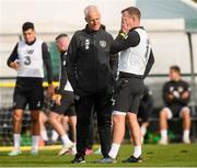 7 October 2019; Republic of Ireland manager Mick McCarthy with Glenn Whelan during a training session at the FAI National Training Centre in Abbotstown, Dublin. Photo by Stephen McCarthy/Sportsfile
