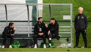 7 October 2019; Republic of Ireland manager Mick McCarthy with players, from left, Seamus Coleman, Derrick Williams and Matt Doherty during a Republic of Ireland training session at the FAI National Training Centre in Abbotstown, Dublin. Photo by Stephen McCarthy/Sportsfile