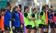 7 October 2019; Katie McCabe, centre, during a Republic of Ireland Women's team training session at Tallaght Stadium in Tallaght, Dublin.  Photo by Piaras Ó Mídheach/Sportsfile
