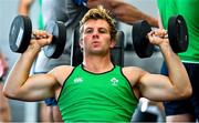 8 October 2019; Jordi Murphy during an Ireland Rugby squad gym session at Shirouzuoike Park in Fukuoka, Japan. Photo by Brendan Moran/Sportsfile