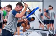 8 October 2019; Peter O'Mahony during an Ireland Rugby squad gym session at Shirouzuoike Park in Fukuoka, Japan. Photo by Brendan Moran/Sportsfile