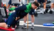 8 October 2019; Robbie Henshaw during an Ireland Rugby squad gym session at Shirouzuoike Park in Fukuoka, Japan. Photo by Brendan Moran/Sportsfile