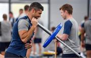 8 October 2019; Rob Kearney during an Ireland Rugby squad gym session at Shirouzuoike Park in Fukuoka, Japan. Photo by Brendan Moran/Sportsfile