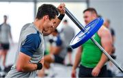 8 October 2019; Joey Carbery during an Ireland Rugby squad gym session at Shirouzuoike Park in Fukuoka, Japan. Photo by Brendan Moran/Sportsfile