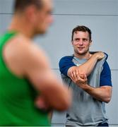 8 October 2019; Jack Carty during an Ireland Rugby squad gym session at Shirouzuoike Park in Fukuoka, Japan. Photo by Brendan Moran/Sportsfile