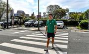 8 October 2019; Joey Carbery poses for a portrait after an Ireland Rugby press conference at the Grand Hyatt in Fukuoka, Japan. Photo by Brendan Moran/Sportsfile