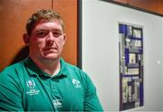 8 October 2019; Tadhg Furlong poses for a portrait after an Ireland Rugby press conference at the Grand Hyatt in Fukuoka, Japan. Photo by Brendan Moran/Sportsfile