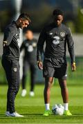 8 October 2019; Troy Parrott and Jonathan Afolabi during a Republic of Ireland U21's Training Session at FAI National Training Centre in Abbotstown, Dublin. Photo by Harry Murphy/Sportsfile