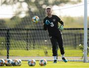 8 October 2019; Mark Travers during a Republic of Ireland training session at the FAI National Training Centre in Abbotstown, Dublin. Photo by Stephen McCarthy/Sportsfile