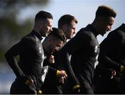 8 October 2019; Alan Browne, left, during a Republic of Ireland training session at the FAI National Training Centre in Abbotstown, Dublin. Photo by Stephen McCarthy/Sportsfile