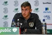 8 October 2019; Conor Masterson during a Republic of Ireland U21's Press Conference at FAI National Training Centre in Abbotstown, Dublin. Photo by Harry Murphy/Sportsfile