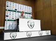 8 October 2019; Republic of Ireland U21 head coach Stephen Kenny during a Republic of Ireland U21's Press Conference at FAI National Training Centre in Abbotstown, Dublin. Photo by Harry Murphy/Sportsfile