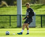 8 October 2019; Jamie Lennon during a Republic of Ireland U21's  Training Session at FAI National Training Centre in Abbotstown, Dublin. Photo by Harry Murphy/Sportsfile